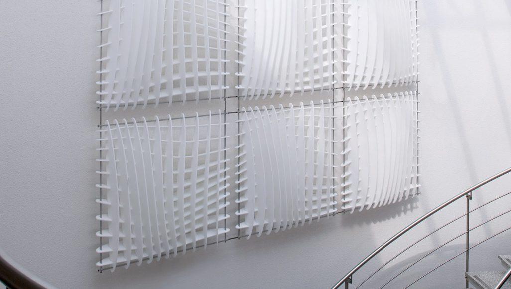Wave-Absorber vertikal im Verbund