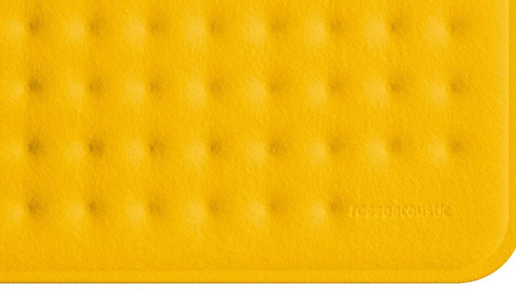 AcousticPAD in Farbe Yellow, Foto: Frank Ockert