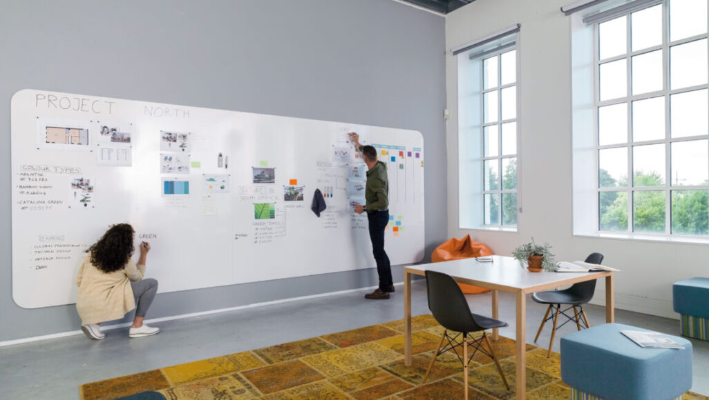 Whiteboard+, 5-teilig, 4900 x 1980 mm