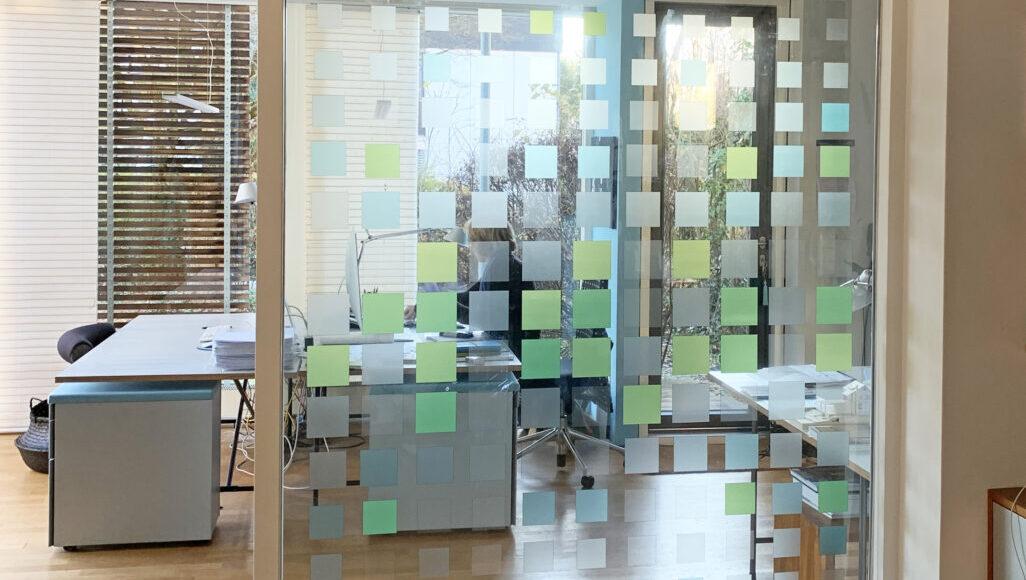 Quadrate grün-transparent